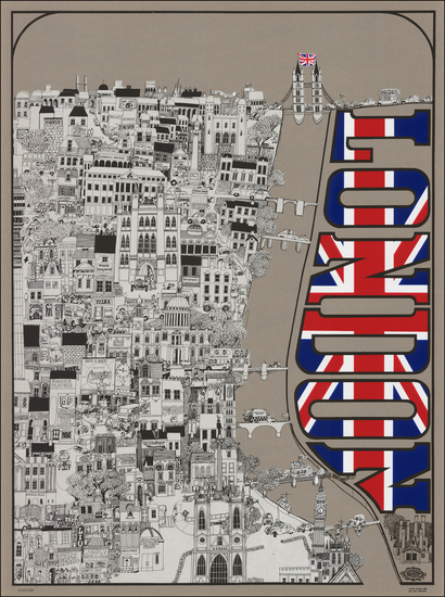 50-London and Pictorial Maps Map By David Schiller