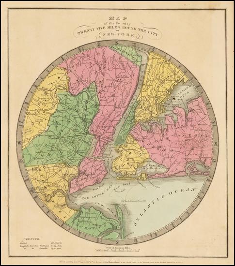 28-New York City Map By David Hugh Burr