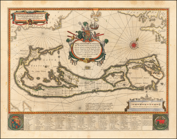 86-Bermuda Map By Willem Janszoon Blaeu