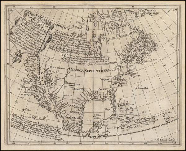 4-Southeast, North America and California as an Island Map By Henry Briggs