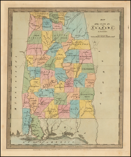 58-Alabama Map By David Hugh Burr