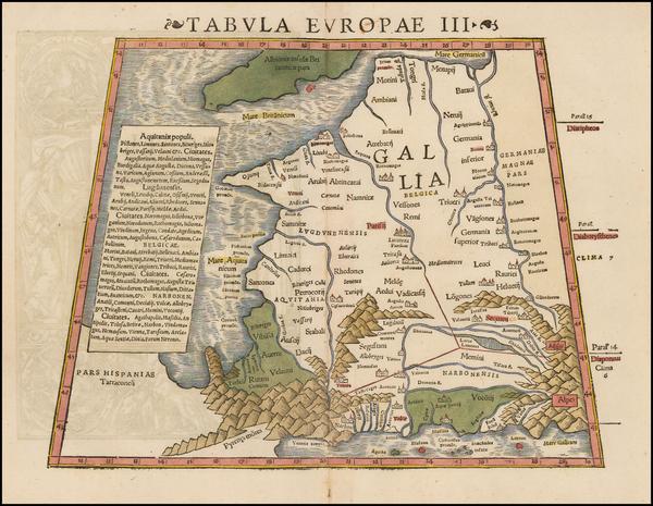 38-France Map By Sebastian Munster
