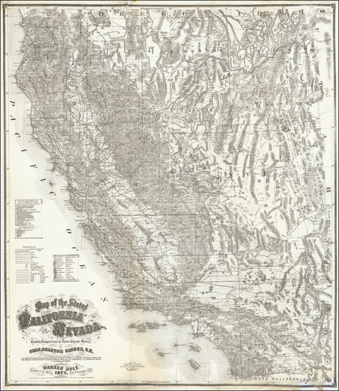 91-California Map By Warren Holt / Charles Drayton Gibbes
