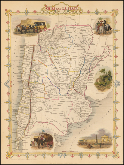68-Argentina and Chile Map By John Tallis