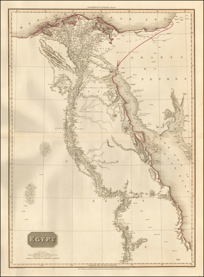 Egypt Map By John Pinkerton