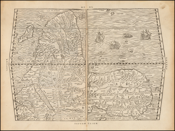 64-Africa and Africa Map By Giovanni Battista Ramusio