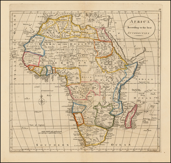 87-Africa and Africa Map By William Guthrie