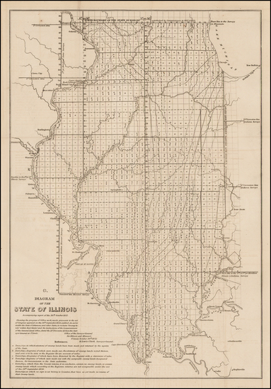 77-Midwest and Illinois Map By U.S. General Land Office