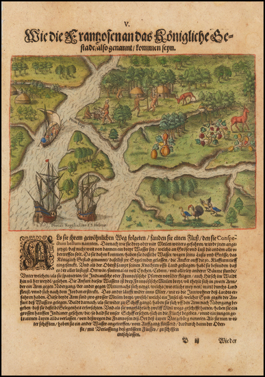 62-Southeast and South Carolina Map By Theodor De Bry