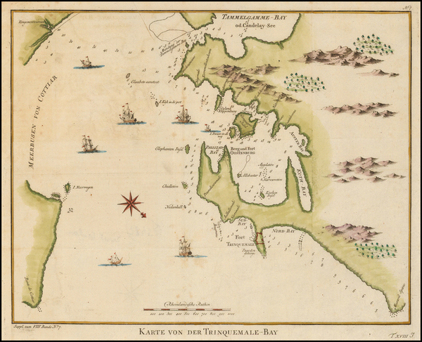 57-India and Other Islands Map By Francois Valentijn
