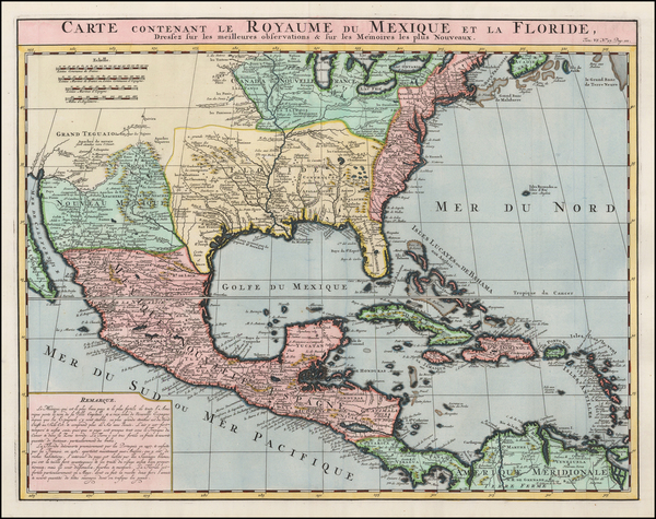 45-United States, Florida, South, Southeast, Texas, Midwest and Southwest Map By Henri Chatelain