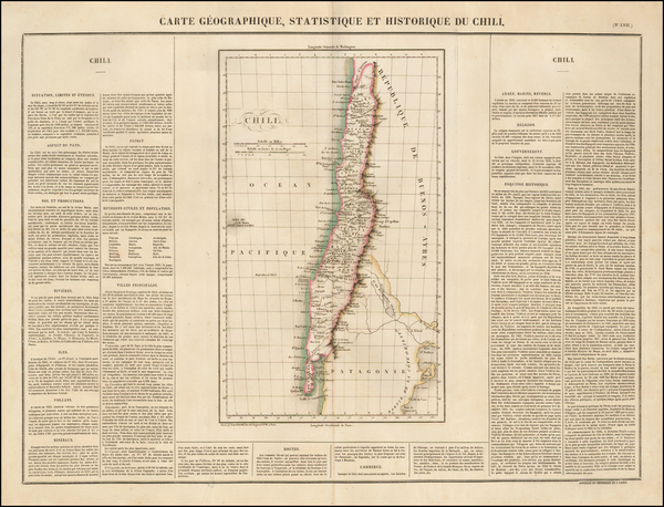 91-South America and Chile Map By Jean Alexandre Buchon