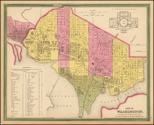 76-Mid-Atlantic and Washington, D.C. Map By Samuel Augustus Mitchell