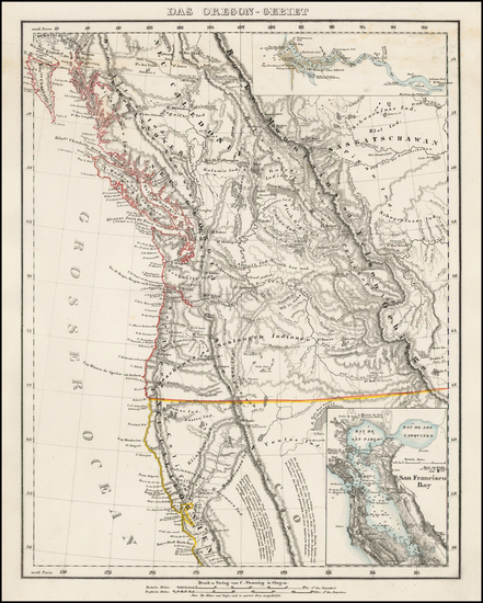 Oregon, Canada and California Map By Carl Flemming