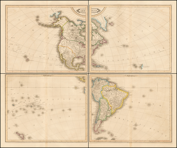 39-South America and America Map By W. & D. Lizars