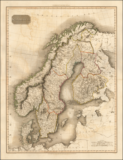39-Scandinavia Map By John Pinkerton