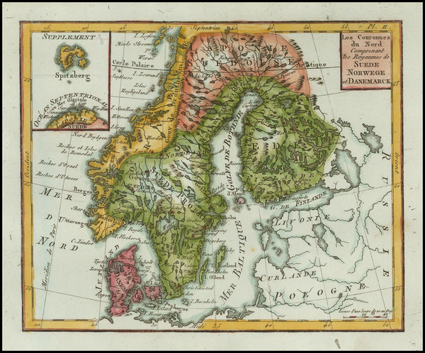 73-Baltic Countries and Scandinavia Map By Citoyen Berthelon