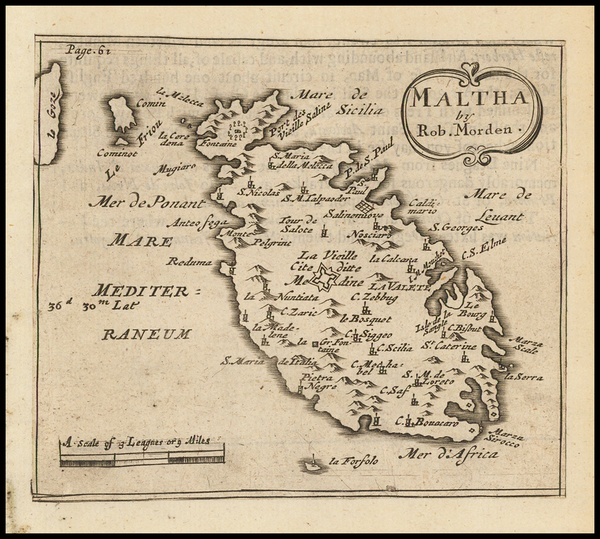 88-Malta Map By Robert Morden