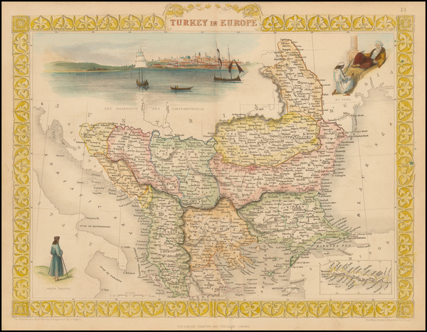1-Balkans, Greece, Turkey and Balearic Islands Map By John Tallis