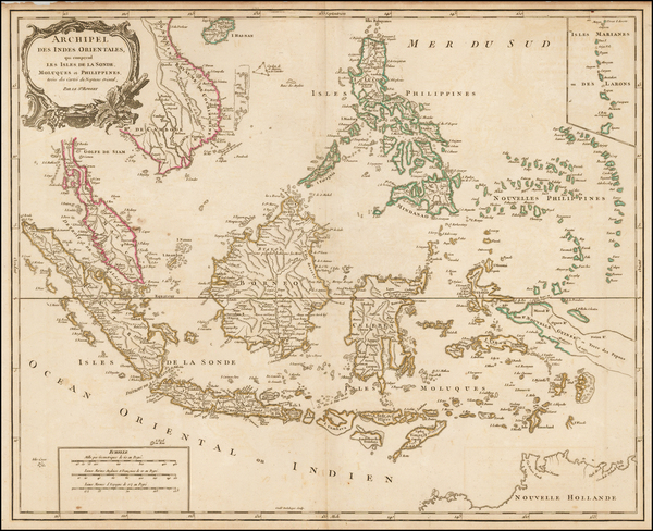 57-Southeast Asia, Philippines and Indonesia Map By Didier Robert de Vaugondy