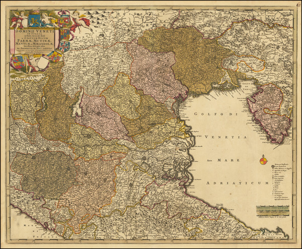 73-Balkans and Italy Map By Frederick De Wit