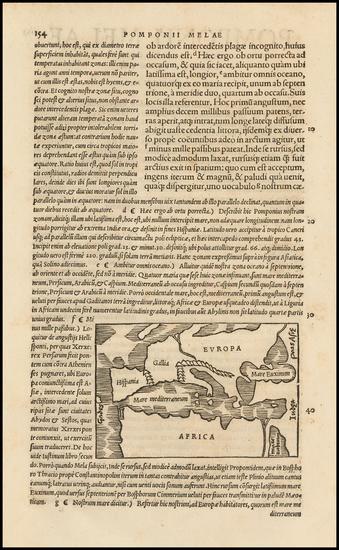68-Europe, Europe, Mediterranean and North Africa Map By Caius Julius Solinus