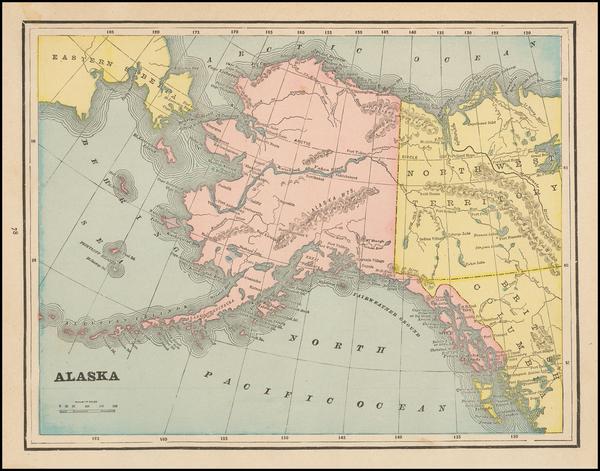28-Alaska Map By George F. Cram