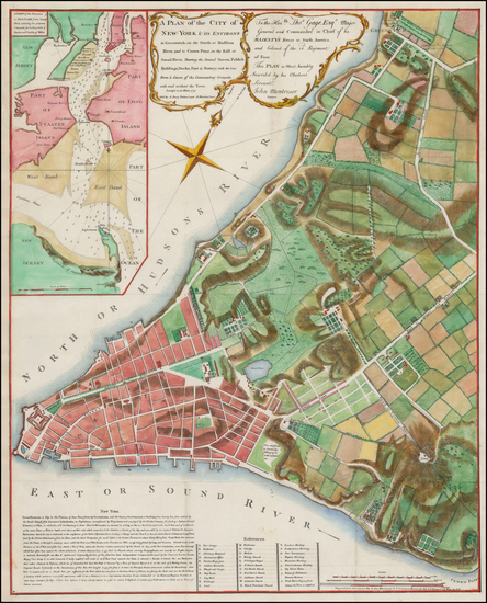 21-New York City Map By Valentine's Manual / John Montresor