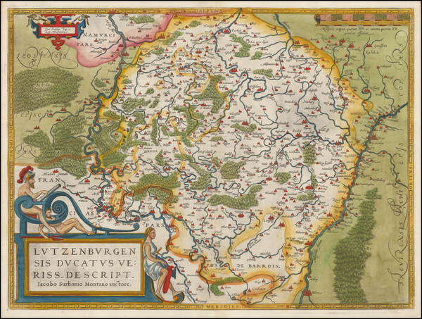 100-Luxembourg Map By Abraham Ortelius