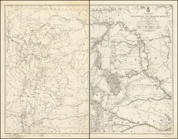 80-Plains, North Dakota, South Dakota, Rocky Mountains and Wyoming Map By W.F. Raynolds