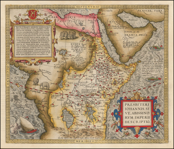 72-Africa, Africa, North Africa, East Africa and West Africa Map By Abraham Ortelius