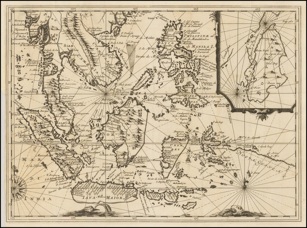 66-Southeast Asia, Philippines, Singapore and Indonesia Map By Réne Augustin Constantin De