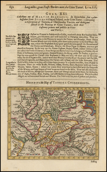 75-Russia, Baltic Countries, Central Asia & Caucasus and Russia in Asia Map By Jodocus Hondius