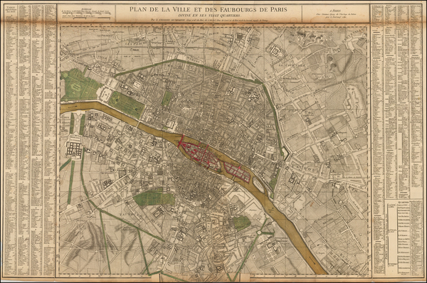 68-Paris Map By Gilles Robert de Vaugondy