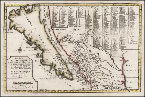 72-Baja California and California Map By Nicolas de Fer