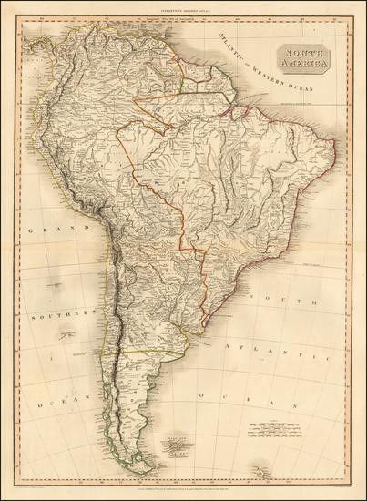 South America Map By John Pinkerton