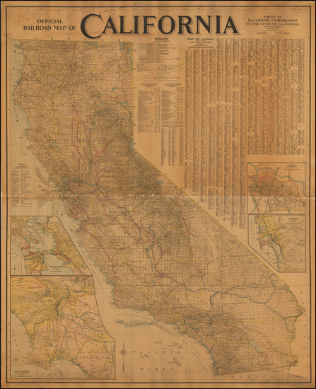 9-California Map By Railroad Commission of the State of California