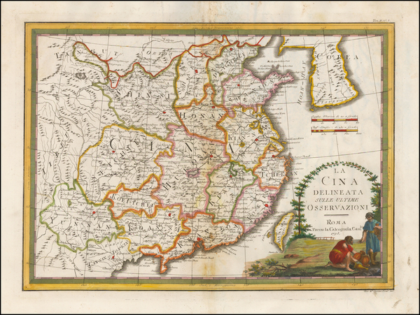 67-China and Korea Map By Giovanni Maria Cassini