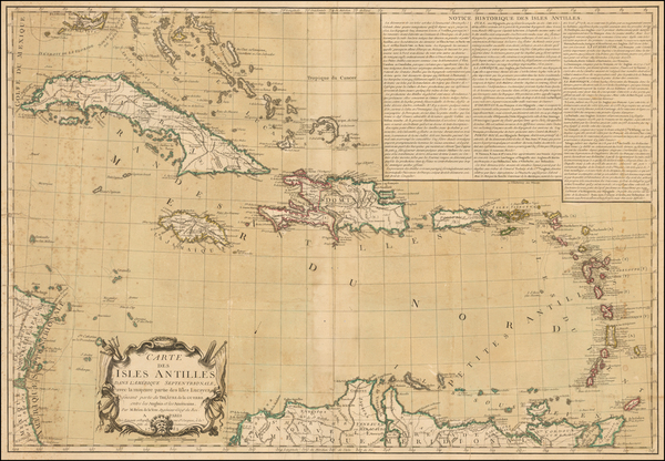 37-Caribbean Map By Jacques Esnauts  &  Michel Rapilly