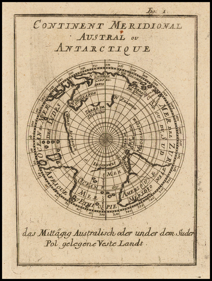 10-Southern Hemisphere, Polar Maps, Australia and Oceania Map By Alain Manesson Mallet