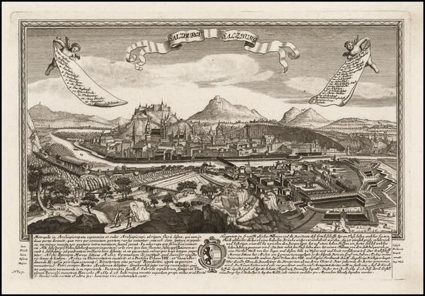 58-Austria Map By Joseph Friderich Leopold