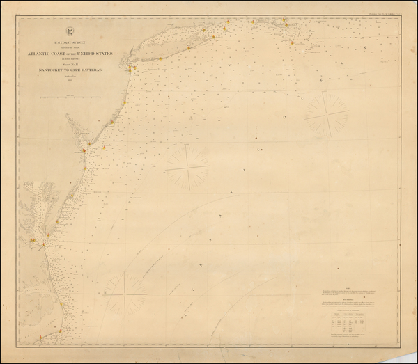85-Mid-Atlantic and Southeast Map By United States Coast Survey