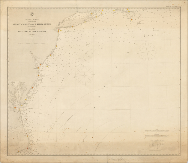 44-Mid-Atlantic and Southeast Map By United States Coast Survey