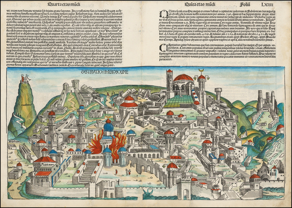 68-Holy Land Map By Hartmann Schedel
