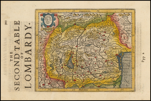 58-Italy and Northern Italy Map By Henricus Hondius