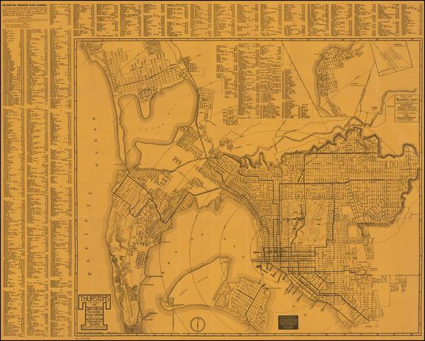 20-San Diego Map By Albert G. Thurston