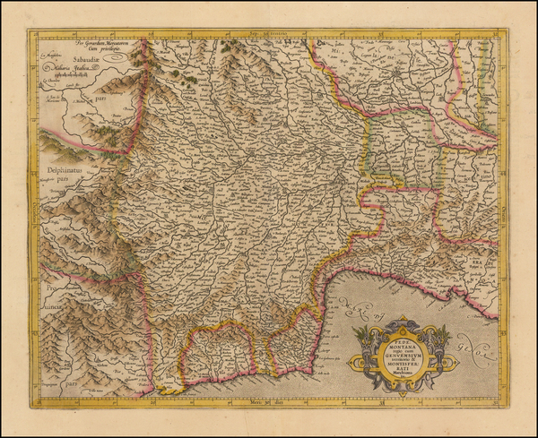24-Northern Italy Map By Gerhard Mercator