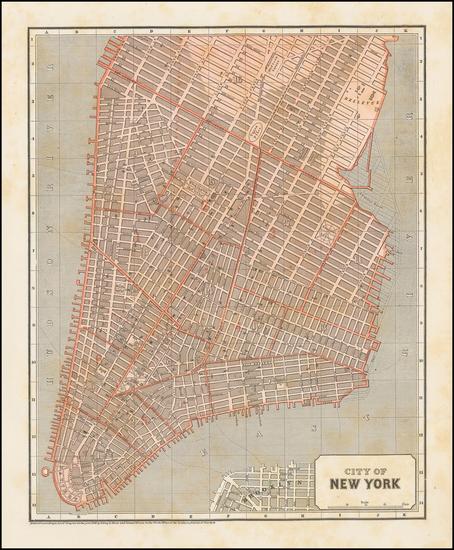 45-New York City Map By Sidney Morse  &  Samuel Breese