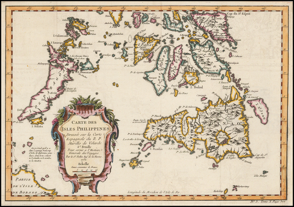 27-Philippines Map By Jacques Nicolas Bellin
