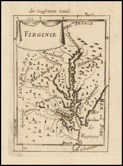 52-Mid-Atlantic and Southeast Map By Alain Manesson Mallet